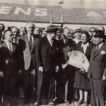 The Papandreou couple is welcomed at the Athens National Airport (1950s)