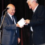 """Enzo Lauretta with Antonis Markoulis, president of the """"Cultural Centre of the Municipality of Syros-Hermoupolis"""""""