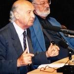 """Ο Enzo Lauretta και ο Κώστας Γεωργουσόπουλος στο """"2ο συμπόσιο για τον Πιραντέλλο"""""""