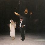 """""""Πλωτό Θέατρο"""", Παλιό Καρνάγιο της Σύρου, Μιχάλης Μητρούσης και Μαρίνα Δεληβοριά"""