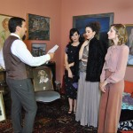 """""""The daughters of chaos"""", the director giving instructions to the cast members"""