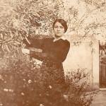 Kyveli in her garden