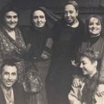"""""""Mother courage"""" by Brecht, Kyveli backstage, with her two daughters, Joséphine Baker, Philippopoulos, Kyvelitsa and Matsas"""
