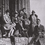 Pirandello with friends at the Tempio di Ercole, Agrigento, 1927