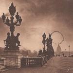 Pont Alexandre III, Paris, postcard, 1921