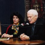 Adamantios Pepelasis and Valentine Stefanides-Potamianos announce the Institute's foundation (February 1999)