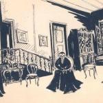 """Σκίτσο της Έλλης Σολωμονίδου για την """"Κοντέσσα Βαλέραινα"""""""
