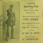 """Sporting Club"" theatre bill, Smyrna, 1909"