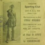 """Πρόγραμμα του """"Sporting Club"""" στην Σμύρνη, 1909"""
