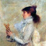 Sarah Bernhardt portrait painted by Jules Bastien Lepage, 1879